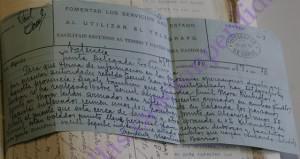 27-07-36, Segorbe. Telegrama Presidente Junda Delegada a mandos columna