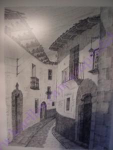 Dibujo de la casa de la calle de las parras
