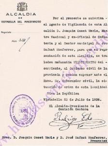 Documentación traslado Joaquin Osset