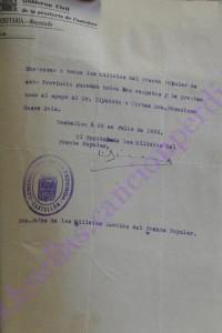 Salvoconducto para Casas Sala firmado por Capitán Sirera 230736